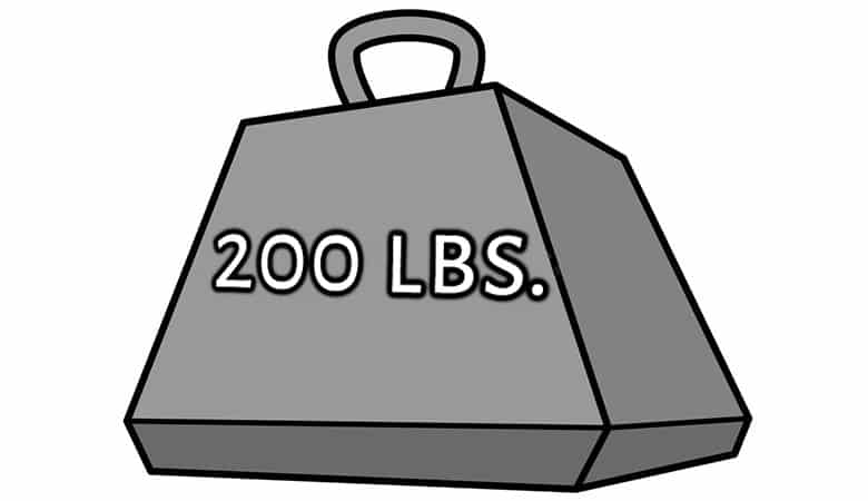 common-things-that-weigh-200-pounds
