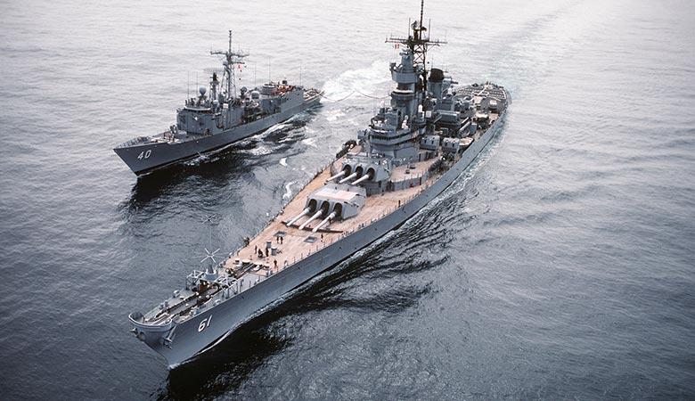 USS-Iowa-heavy-warship