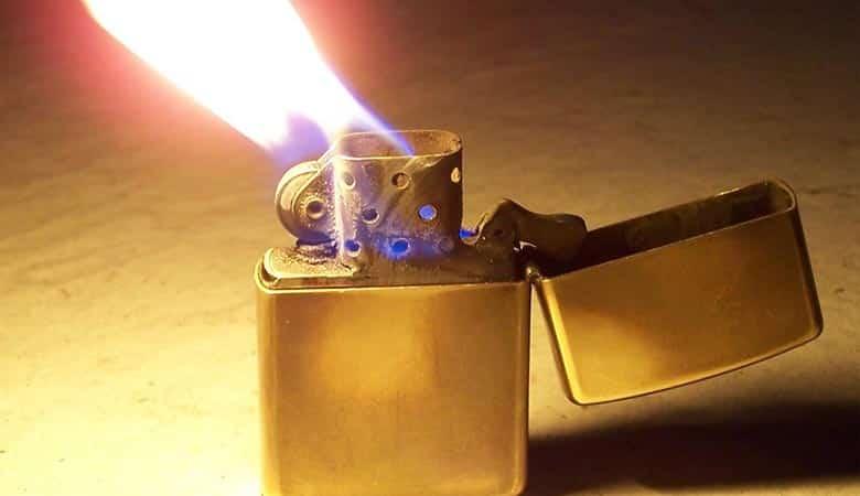 Brass-Zippo-Lighter-heavy-tiny-item